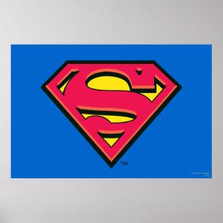 Logotipo clásico del S-Escudo el | del superhombre Póster