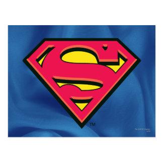 Logotipo clásico del S-Escudo el | del superhombre Tarjeta Postal