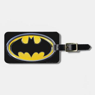 Logotipo clásico del símbolo el | de Batman Etiquetas Para Equipaje