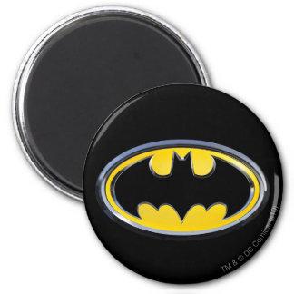 Logotipo clásico del símbolo el | de Batman Imán Redondo 5 Cm