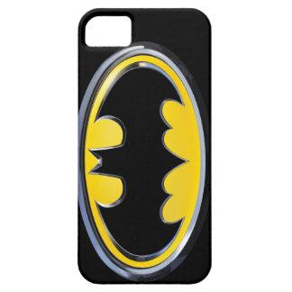 Logotipo clásico del símbolo el | de Batman iPhone 5 Carcasa