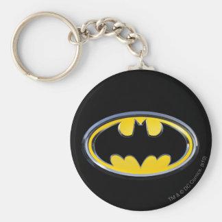 Logotipo clásico del símbolo el | de Batman Llavero Redondo Tipo Pin