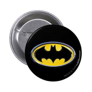 Logotipo clásico del símbolo el | de Batman Pin Redondo De 2 Pulgadas