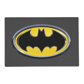 Logotipo clásico del símbolo el | de Batman Salvamanteles