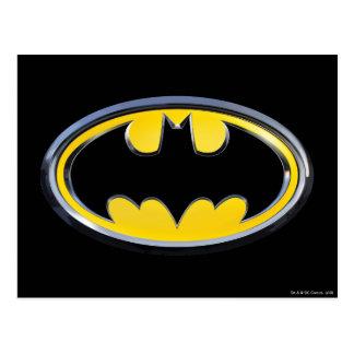 Logotipo clásico del símbolo el | de Batman Tarjeta Postal