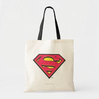 Logotipo clásico del superhombre bolsas lienzo