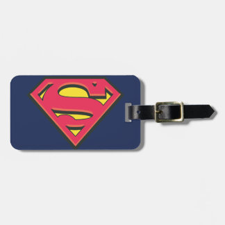 Logotipo clásico del superhombre etiquetas maletas