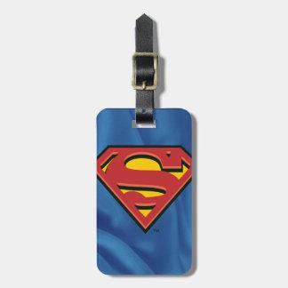 Logotipo clásico del superhombre etiquetas para equipaje