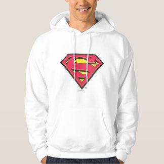 Logotipo clásico del superhombre sudadera encapuchada