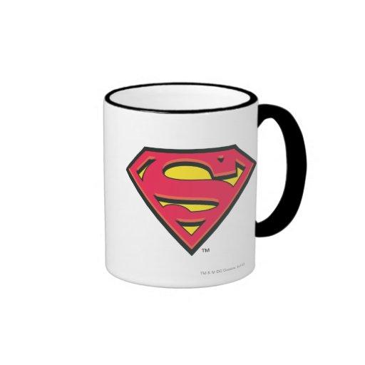 Logotipo clásico del superhombre tazas de café