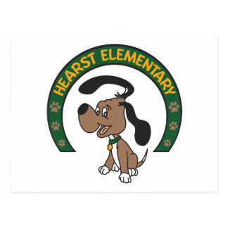 Logotipo clásico elemental del perro de Hearst Postales