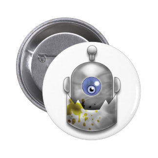 Logotipo codicioso del robot pins