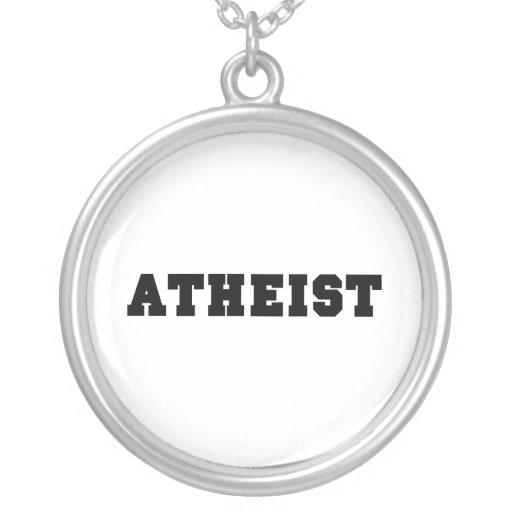 Logotipo colegial ateo colgante redondo
