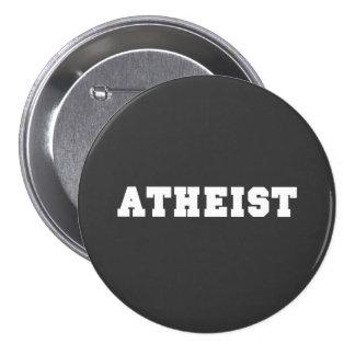 Logotipo colegial ateo pin redondo de 3 pulgadas