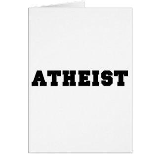 Logotipo colegial ateo tarjeta de felicitación