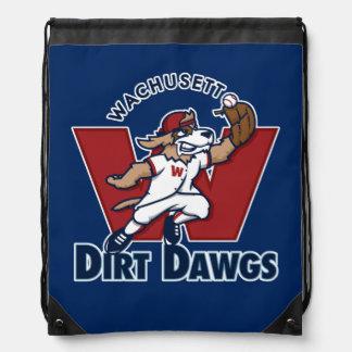 Logotipo colegial del equipo de béisbol de Dawgs Mochilas