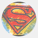 Logotipo coloreado el | del S-Escudo del Pegatina Redonda