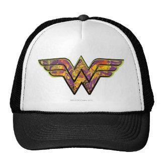 Logotipo colorido de la Mujer Maravilla Gorras De Camionero