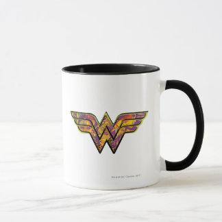 Logotipo colorido de la Mujer Maravilla Taza
