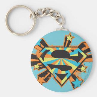 Logotipo colorido de las estrellas de Supergirl Llavero Personalizado