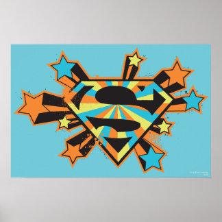 Logotipo colorido de las estrellas de Supergirl Impresiones