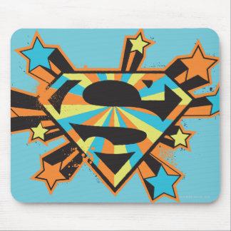Logotipo colorido de las estrellas de Supergirl Tapete De Ratones