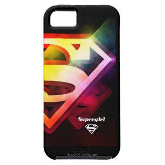 Logotipo colorido de Supergirl iPhone 5 Funda