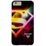 Logotipo colorido de Supergirl Funda Para iPhone 6 Plus Barely There