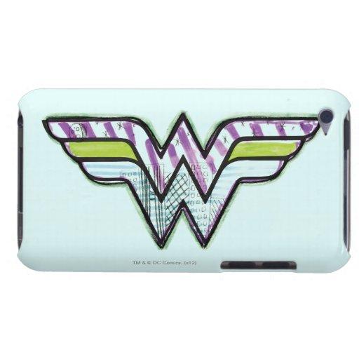 Logotipo colorido del bosquejo de la Mujer Barely There iPod Carcasas