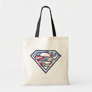 Logotipo colorido del bosquejo de Supergirl Bolsas