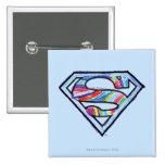 Logotipo colorido del bosquejo de Supergirl Pins