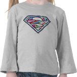 Logotipo colorido del bosquejo de Supergirl Camiseta