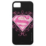 Logotipo colorido rosado de Supergirl iPhone 5 Cárcasa