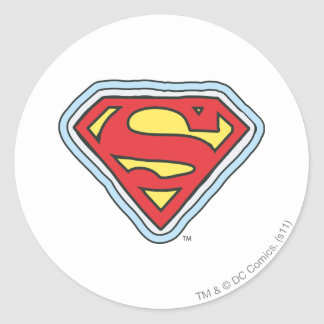 Logotipo cómico de Supergirl Etiquetas Redondas