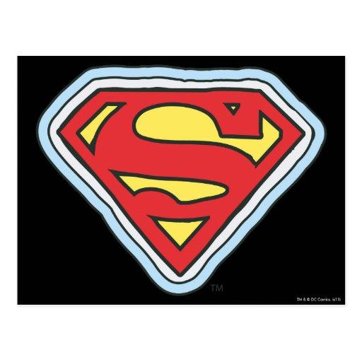 Logotipo cómico de Supergirl Postal