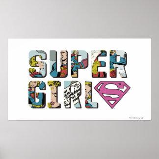 Logotipo cómico de Supergirl Póster