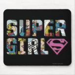 Logotipo cómico de Supergirl Tapete De Raton