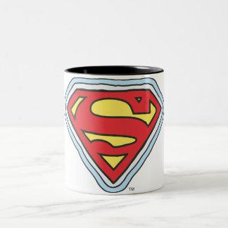 Logotipo cómico de Supergirl Taza De Café De Dos Colores