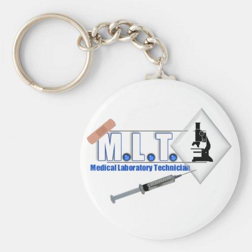 LOGOTIPO con el MICROSCOPIO - TECNOLOGÍA de MLT de Llavero Personalizado