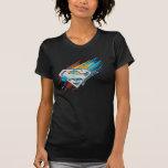 Logotipo con las rayas de la pintura camisetas