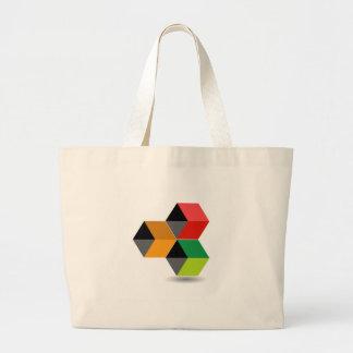 Logotipo con los cubos y la sombra coloridos bolsa de mano