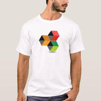 Logotipo con los cubos y la sombra coloridos playera