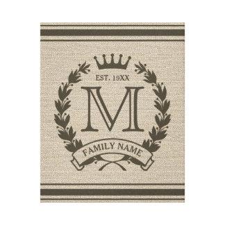 Logotipo con monograma inicial de encargo de la lona estirada galerias