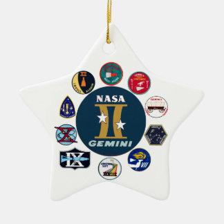 Logotipo conmemorativo de los géminis adorno de cerámica en forma de estrella