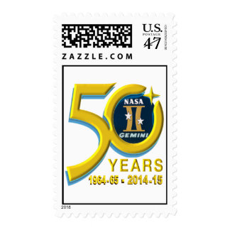 Logotipo conmemorativo de los géminis sello postal