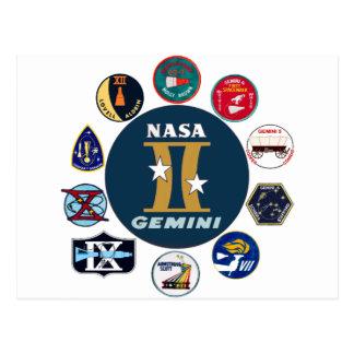 Logotipo conmemorativo de los géminis tarjetas postales