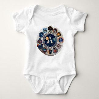 Logotipo conmemorativo del programa Apollo Body Para Bebé