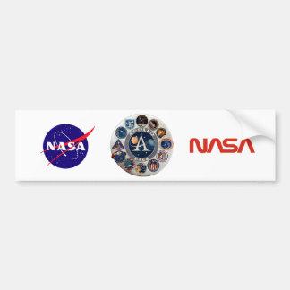 Logotipo conmemorativo del programa Apollo Etiqueta De Parachoque