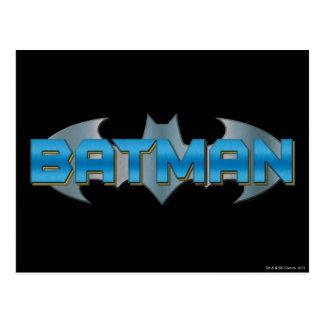 Logotipo conocido azul de Batman el   Tarjeta Postal
