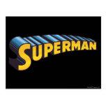 Logotipo conocido clásico del superhombre el | postales